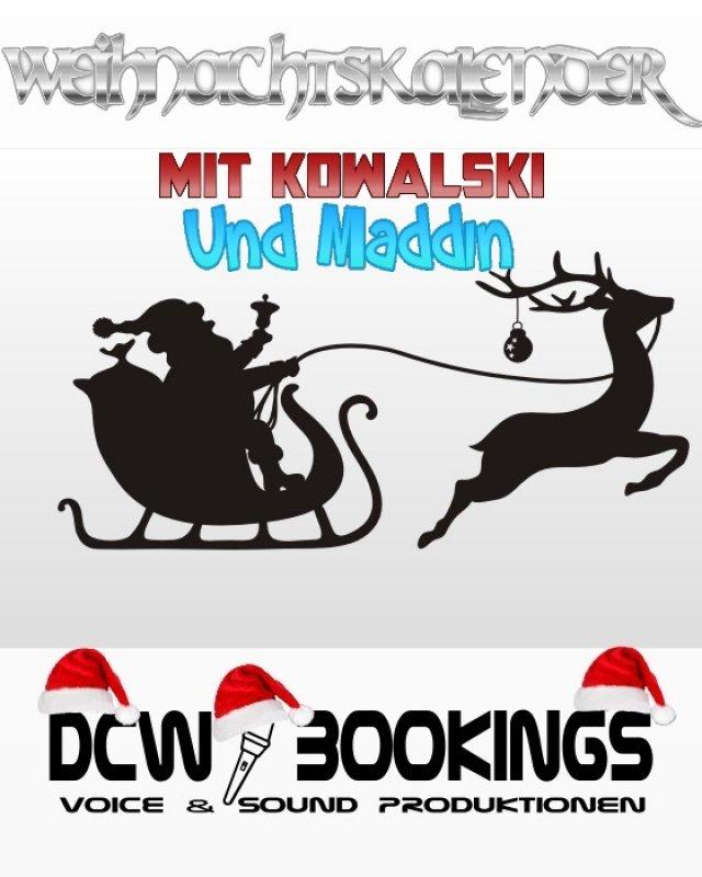 Weihnachtskalender mit Kowalski und Maddin