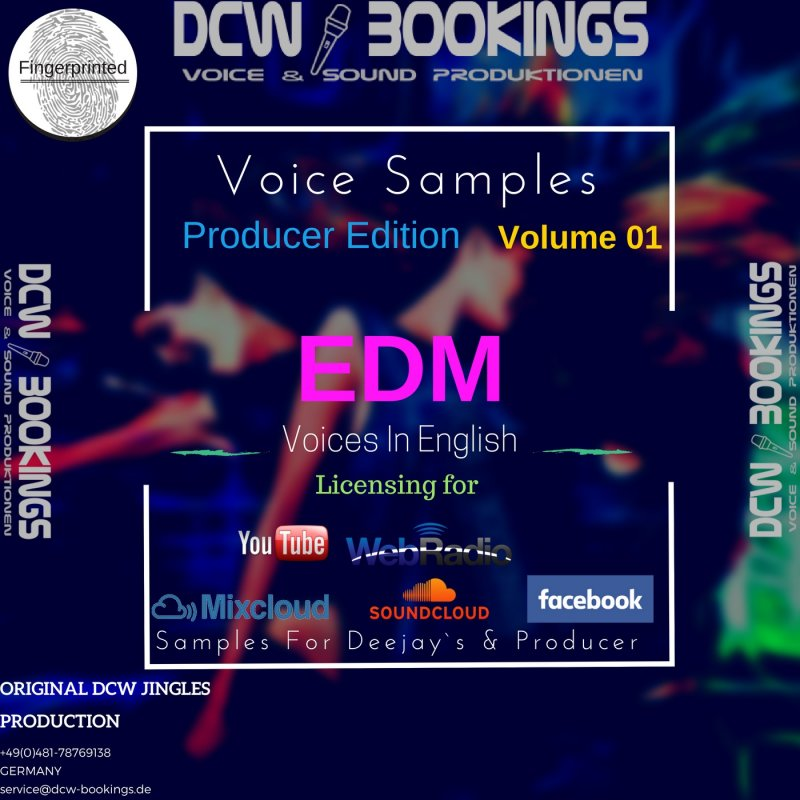 Voice Samples Volume 1 EDM Producer Edition