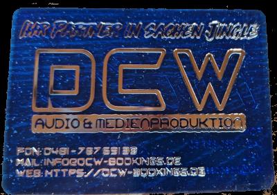 Fahrchip als Visitenkarte (Fehlpressung) blau